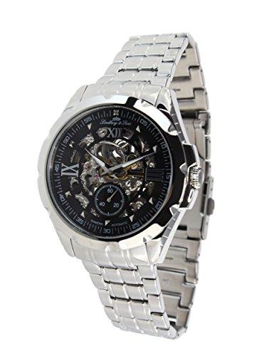 Lindberg&Sons - SK14H026 - wrist watch for men - skeleton - automatic movement - analog display - stainless steel bracelet