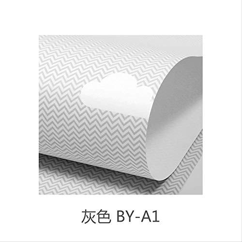 Nordische Stapete In Den Blauen Himmel Baiyun Kinderzimmer Junge Mädchen Zimmer Schlafzimmer Prinzessin Hintergrund Wand Papier Tapete nur Graue BY-A1 (umweltfreundliches atmungsaktives Vliesstoff)