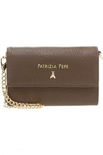 Patrizia Pepe Lock Fly Borsa a tracolla 16 cm uniform grey