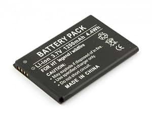 Batterie compatible pour HTC A3333, A6363, A6365, A6388, ADR6300, Buzz, Droid Eris, Droid Eris 6200, G6, HTC 7 Trophy, Incredible, Incredible PB31200, Legend, Wildfire