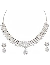 Alluring Collections Necklace Set Studded With American Diamonds (CZ) For Women And Girls- ASC30