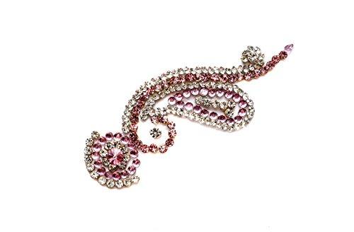 Rose ♦ Tikka Bindi ♦ Pink ♦ Indischer Stirnschmuck ♦ Schmucksteine fürs Gesicht ♦ Aufkleber/Sticker ♦ Festival Face Gems ()