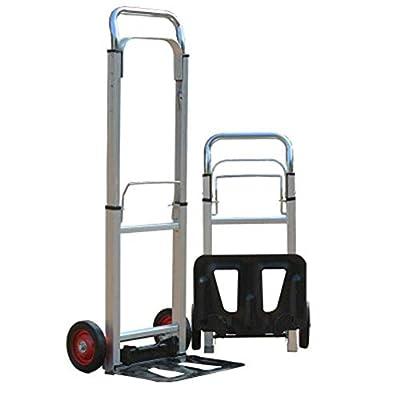 Zhaoyun Faltbarer Aluminium-Trolley für bequemes Anheben oder Umzug zu Hause Büro oder im Freien für Angeln, Camping, Urlaub