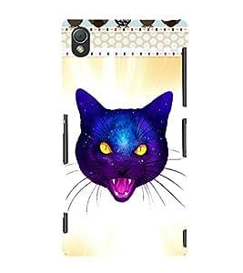 Fuson 3D Printed Cat Designer back case cover for Sony Xperia Z3 - D4524