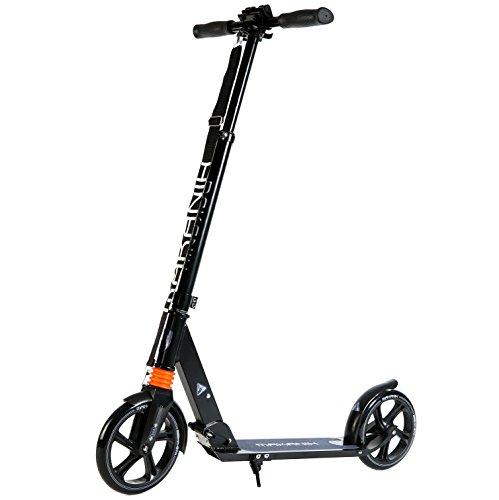 MAKANIH® Tretroller für Erwachsene City-roller Scooter Big-Wheel Kick-scooter Tret-roller 205mm Aluminium für Kinder ab 8 Jahre mit Federung