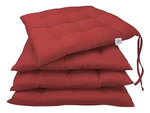 Zollner set di 4 cuscini da sedia cuscini per giardino for Cuscini amazon