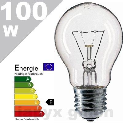 10 x Glühlampe Glühbirne 100w 100 Watt klar E27 von Ovk-handel auf Lampenhans.de