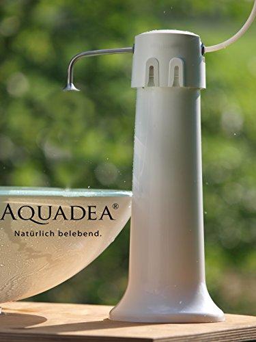 Aquaphor Übertisch Trinkwasser Filter Gerät mit Schnellwechsel - Patrone keimfrei mit K1-07B 2-Stufen Filterpatrone Carbonblock und 0,1 µm Hohlfaser-Membrane. Bequemer, einfacher schneller Patronenwechsel. -