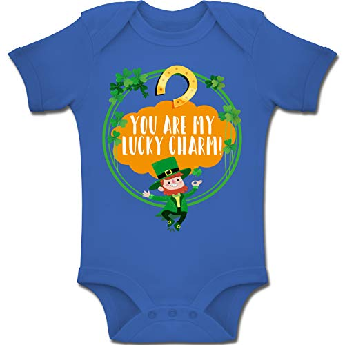 Shirtracer Strampler Motive - You Are My Lucky Charm! - 1-3 Monate - Royalblau - BZ10 - Baby Body Kurzarm Jungen Mädchen
