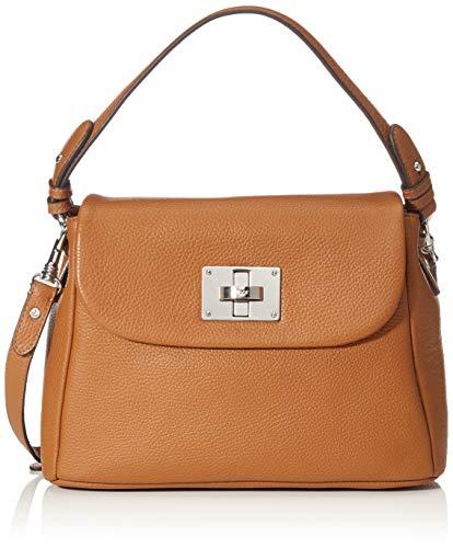 Joop! 4140004137 - Bolso de hombro de Cuero Mujer, color Marrón, talla 11x21x31 cm (B x H x T)