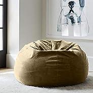 Regal In House relaxing bean bag velvet Large - Hazelnut