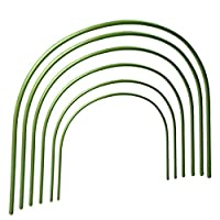 Takefuns 6 Pcs Greenhouse Hoops Plant Hoop Grow Garden Tunnel Hoop Support Hoops for Garden Stakes