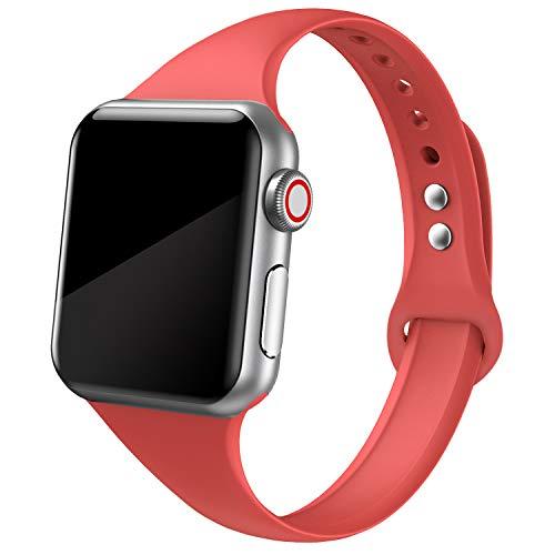 SWEES Sport-Silikon Armband Kompatibel mit Apple Watch,38 mm,40 mm,Weiches Silikon,dünn,Schmal,Klein,Ersatz-Armband für iWatch Serie 4,Serie 3,Serie 2,Serie 1 Nike+,Sport - Silikon-armband-nike