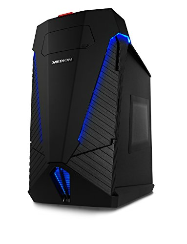Medion X77 - Ordenador de sobremesa (Intel Core_i7 4.0 GHz, nVidia GeForce GTX 1080 - 8 GB GDDR5X, 4 TB HDD + 512 GB SSD, 32 GB de RAM, Windows 10) negro