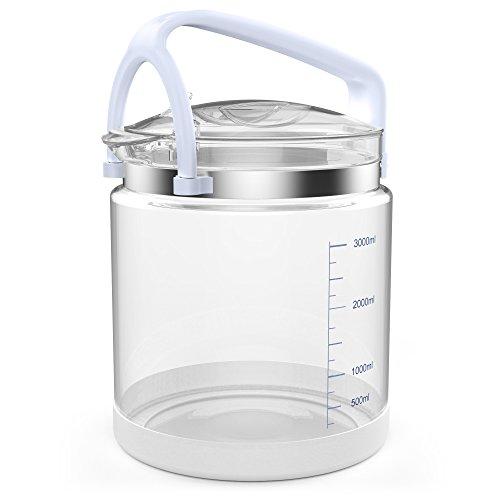 LifeBasis Glas klar Sammlung Flasche für Wasser Distiller, transparent MEHRWEG