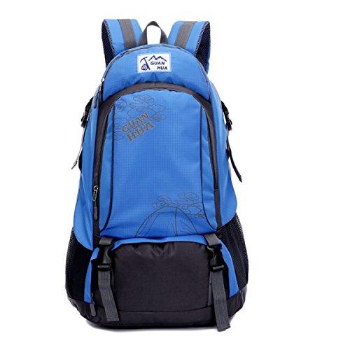 BULAGE Tasche Gymnasiasten Im Freien Schultern Frau Zum Mann Sport Schultaschen Computer Mit Hoher Kapazität Tourismus Rucksäcke Blue