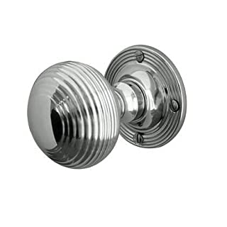 Reeded Mortice Door Knob - POLISHED CHROME