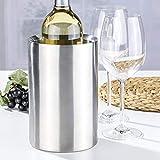 Bambelaa! Weinkühler Sektkühler Flaschenkühler doppelwandig (Edelstahl, 2 Stück) - 5