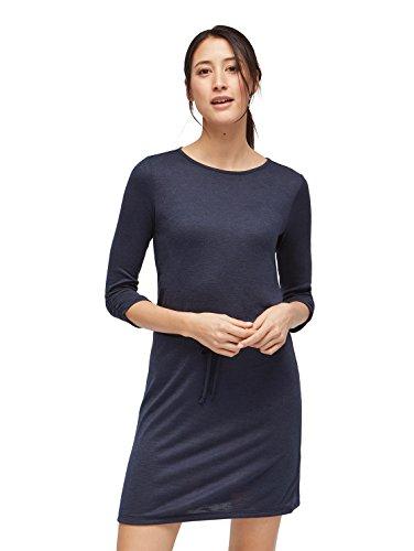 TOM TAILOR für Frauen Kleider & Jumpsuits Kleid mit Bindeband auf Taillenhöhe real navy blue 42