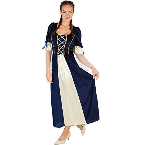 TecTake dressforfun Frauenkostüm Königstochter | Besteht aus wundervollem Satin und Pannesamt | Traumhaftes Königstochter-Kleid ()