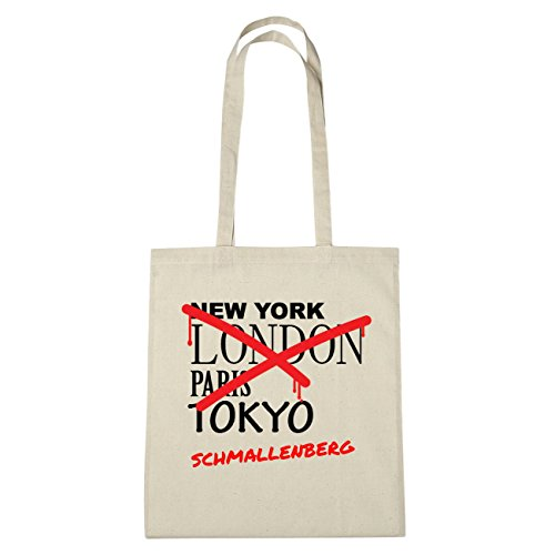 JOllify Schmallenberg di cotone felpato Z40-B1420 schwarz: New York, London, Paris, Tokyo natur: Graffiti Streetart New York