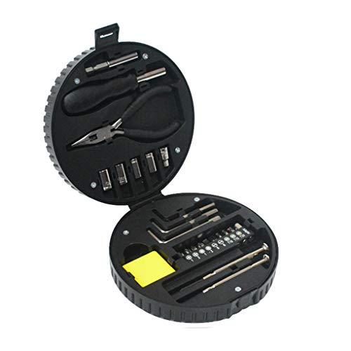 Uzinb 24X Reifen-Reparatur-Werkzeug-Satz-Sockets Zangen Inbusschlüssel Schraubendreher-Bits Verlängerungs-Stab Carbon Steel Handwerkzeugkasten