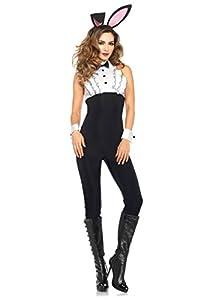 Leg Avenue- Mujer, Color Blanco y Negro, Medium (EUR 38-40) (84236)