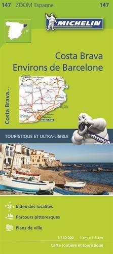 Carte Environs de Barcelone, Costa Brava Michelin
