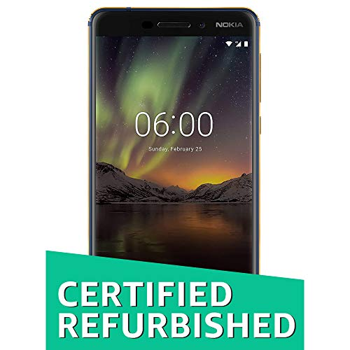 (CERTIFIED REFURBISHED) Nokia 6.1 (2018) (4GB + 64GB, Blue-Gold)