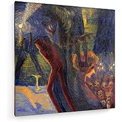 Luigi Russolo - Erinnerungen Einer Nacht - 60x60 cm - Leinwandbild auf Keilrahmen - Wand-Bild - Kunst, Gemälde, Foto, Bild auf Leinwand - Alte Meister/Museum