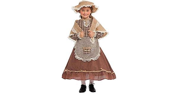 Costume di Carnevale da CONTADINA Vestito per Ragazza Bambina 7-10 Anni  Travestimento Veneziano Halloween Cosplay Festa Party 5087 Taglia 9 L   Amazon.it  ... 2e3a134b042