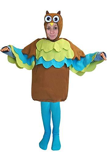 Eule Mapa Kostüm Grösse 38 - 40 - 42 L - XL Fasching Karneval Rummelpott (auch als Kinderkostüm erhältlich) (Eule Kostüm Für Frauen)