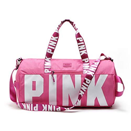 Sporttasche Sporttasche Für Männer Frauen Gym Fitness Taschen Sport Wasserdichte Große Kapazität Tote Reisetasche Bolsas PINK -