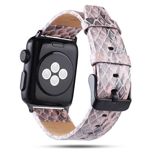 Feinny Smart Armband Uhren Armbanduhr/Fashion Personality Serpentine Strap Uhr Ersatzgürtel Ersatzgürtel/Für Apple Watch Serie 4/3 Lederarmband - 38/40MM -