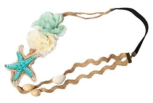(Mode Damen Baby Seestern Shell Haarband - Hanfseil Plastikblume Stirnband)