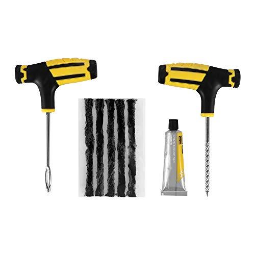 Auto Auto Tubeless Reifen Plug-Reparatur-Werkzeug-Kit Auto-Reifen-Reparatur-Set Zubehör-Schwarz (Auto-reifen-reparatur-kit)
