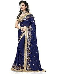 Gitanjali Fashions Satin Saree (New Sarees_Blue)