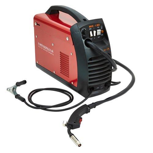 Trueshopping Industrieller Mig-Schweißer 130AMP Kein Gas-Schweißgerät u. Zusätze