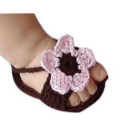 Xinantime Zapatos de bebé, Punto de Ganchillo de la Hebilla de la Sandalia