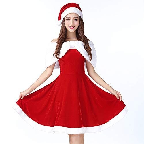 Ambiguity Weihnachtskostüme,Europäische und amerikanische Weihnachten Kleidung Weihnachten Kleidung Weihnachten Kleid Mädchen