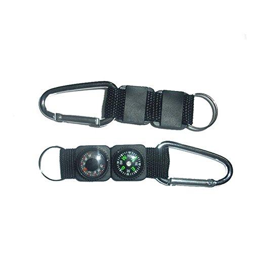 Colorful Karabiner (TM) 1pcs Outdoor Camping Wandern Mini Karabiner Schlüsselanhänger Kompass Thermometer (Kompass Karabiner Schlüsselanhänger)