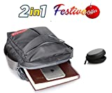 #7: Trajectory 2 in 1 Festive Offer: Urban Grey Unisex Sling Bag and Free Earphone Case