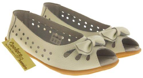Footwear Studio, Ballerine donna beige/berry/black/blue/navy blue/pink/white Bianco (White (Bow))