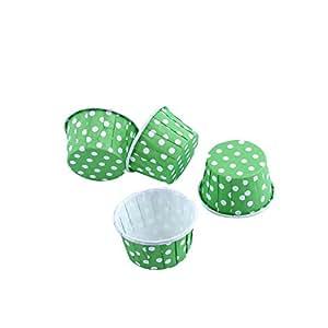 100er Backen Tassen Mini Papier Kuchen Cupcake Wrappers Fällen Halter für Muffin Cups Liner Cupcake Papier Backen Farbe für Halloween Hochzeit Geburtstag Party Dekoration Allerheiligen(green)