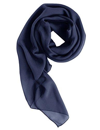 Dresstells Chiffon Schal Stola für Abendkleider in verschiedenen Farben Navy 190cmX70cm
