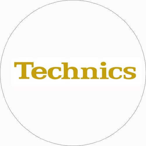 Technics DMC - Tappetino per giradischi, 1 paio, colore: bianco/oro
