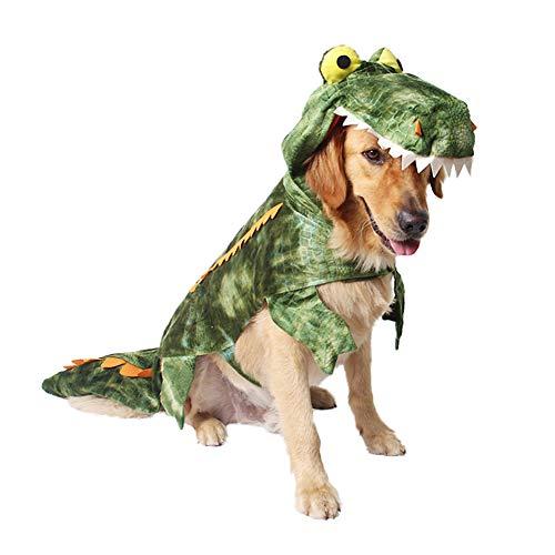 ostüm für Hunde, Krokodil-Kostüm, lustiges Cosplay-Outfit für Halloween Festival Party, XXL ()