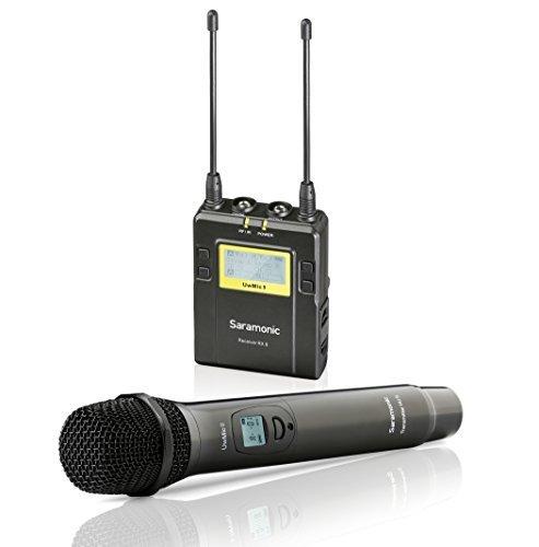 Saramonic Wireless microfono portatile per fotocamere DSLR, UWMIC9 UHF intervista microfono palmare sistema con microfono e ricevitore unit, compatibile con Canon/Nikon/Sony