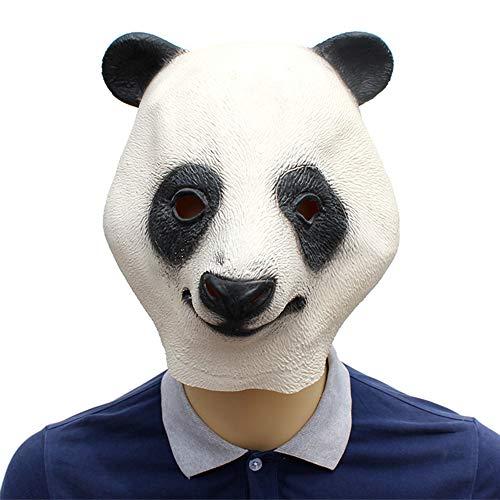 GIYL Halloween Maske, Latex Tierkopf Maske Panda, für die Verkleidete - Panda Kostüm Streich
