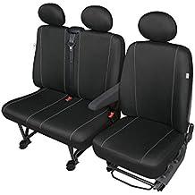 Solid schw21dv12Fundas de asiento negro–Universal